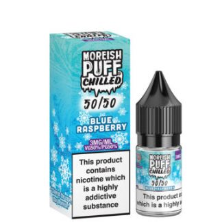 blue raspberry 10ml 50 50 eliquid bottle with box by moreish puff chilled 5050 360x360 1