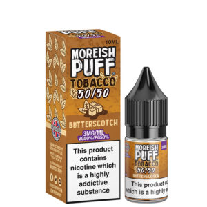 butterscotch 10ml 50 50 eliquid bottle with box by moreish puff tobacco 5050 300x300 1