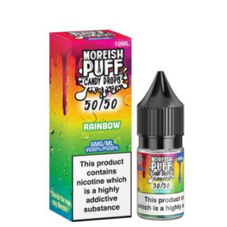 rainbow 10ml 50 50 eliquid bottle with box by moreish puff candy drops 5050 360x360 1